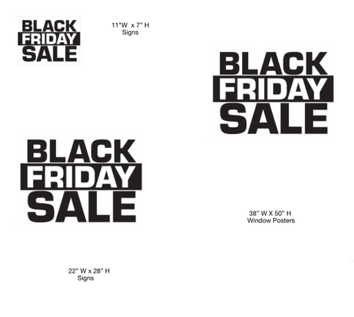 Black Friday Sale Retail Sign Kit