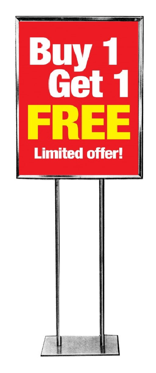 Buy 1 Get 1 Free-Limited Time Standard Poster-Floor Stand Savings Signs-22x28
