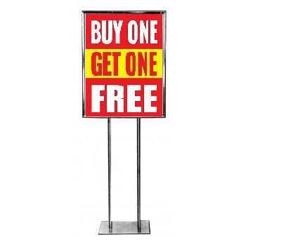 BOGO Free Standard Poster-Floor Stand Savings Sign-22x28