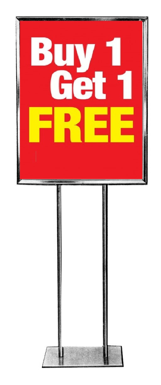 Buy 1 Get 1 Free Standard Poster-Floor Stand Savings Signs-22x28