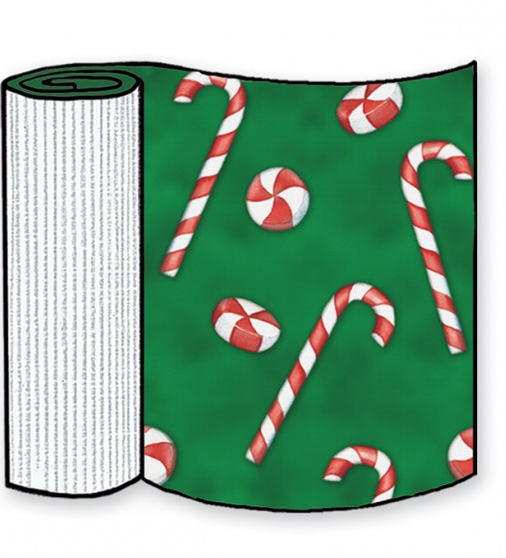 Candy Canes Corrugated Base Pallet Wrap