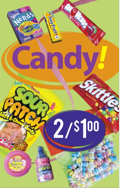 Candy Window Sign-Custom Price