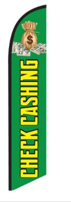 Check Cashing Feather Flag Kit-Green