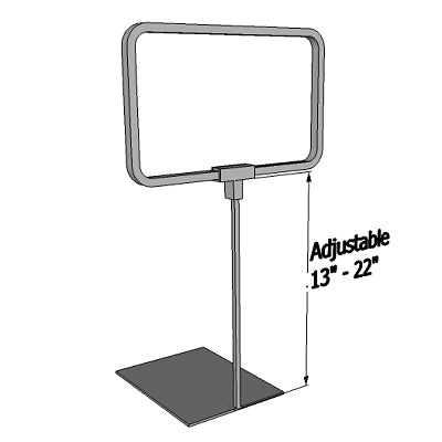 "Metal Sign Frames-Shovel Base -Adjustable-Chrome -11"" W x 7""H-25 pieces"