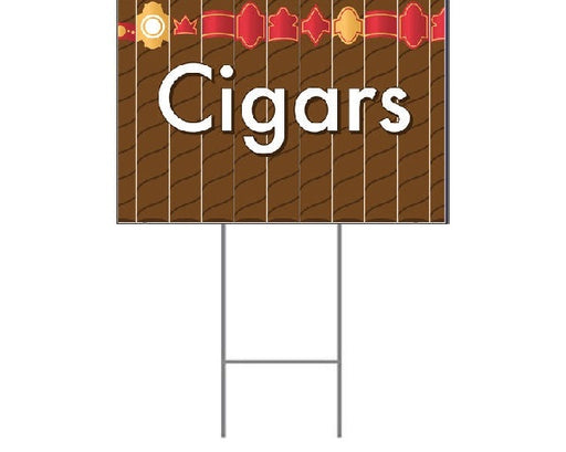 "Cigars Lawn-Yard Signs for Retail- 24 ""x 18"""