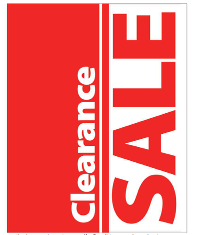 Clearance Sale Posters-Floor Stand Stanchion Signs-4 pieces