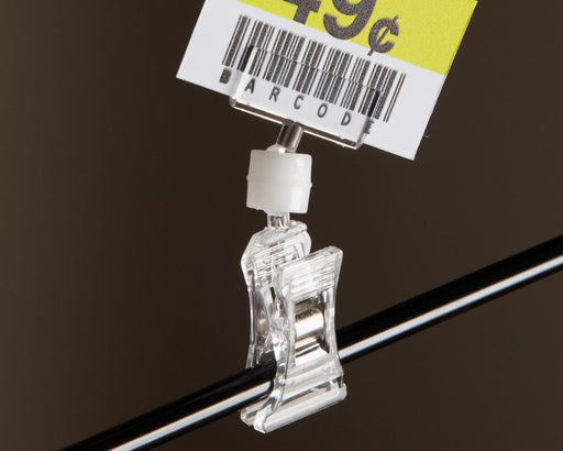 Clear Plastic Small Clip On Signholder