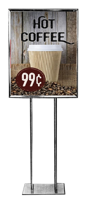 Coffee Floor Stand Stanchion Sign-Semi Custom