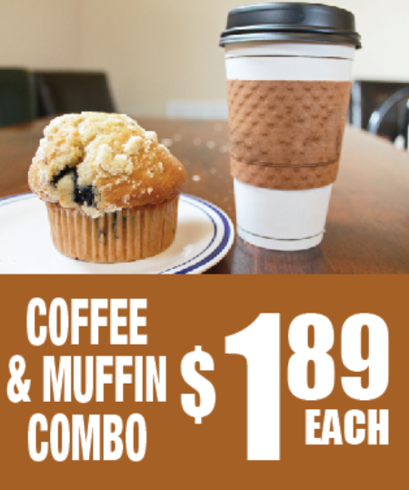 Coffee & Muffin Combo Floor Stand Stanchion Sign-Semi Custom