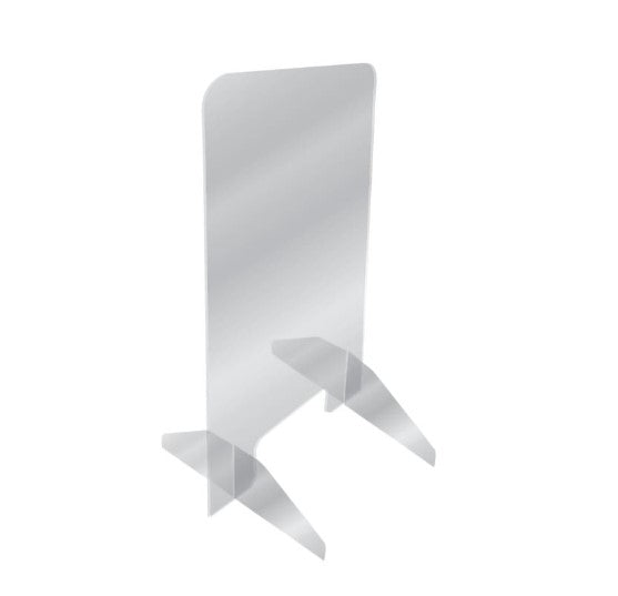 "Checkout Counter Acrylic Protective Barrier Sneeze Guard Shields- 24""W x 36""H Freestanding"