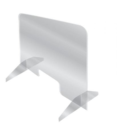 "Checkout Counter Acrylic Protective Barrier Sneeze Guard Shields-48""W x 36""H Freestanding"