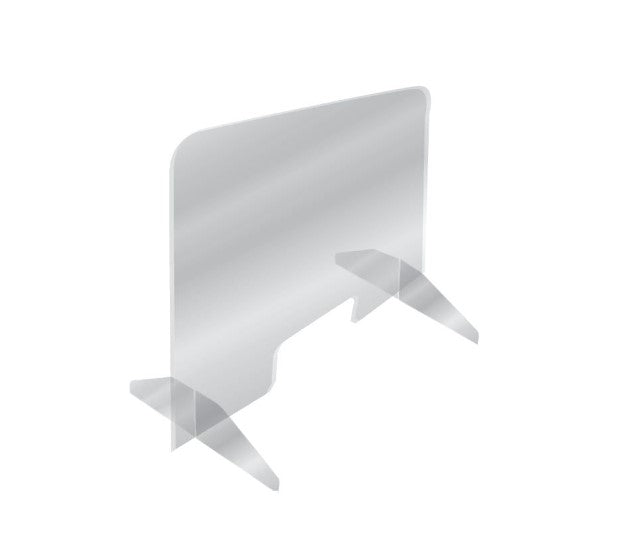 "Checkout Counter Acrylic Protective Barrier Sneeze Guard Shields- 36""W x 24""H Freestanding"