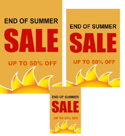 End of the Summer Retail Sale Event Sign Kit -14 pieces