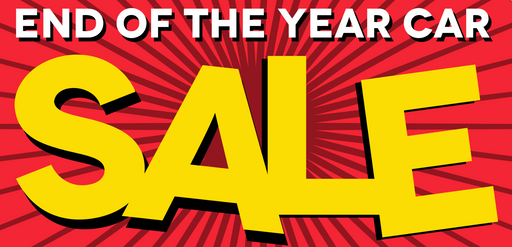 End of Year Car Sale Banner