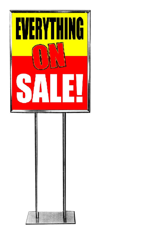 "Everything On Sale Standard Poster-Floor Stand Stanchion Sign-22"" x 28"""
