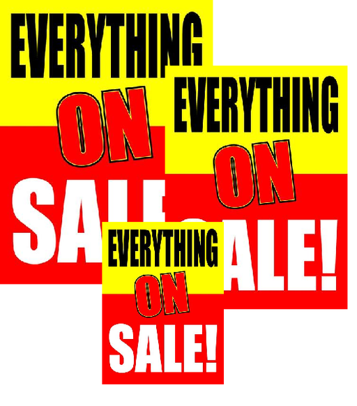 Everything On Sale Retail Sale Event Sign Kit