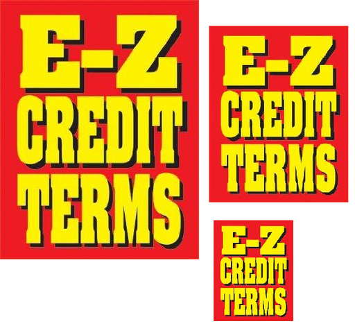 EZ Credit Terms Retail Sale Event Sign Kit