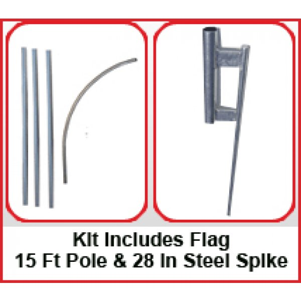 Bar Open Feather Flag Kit-Blue