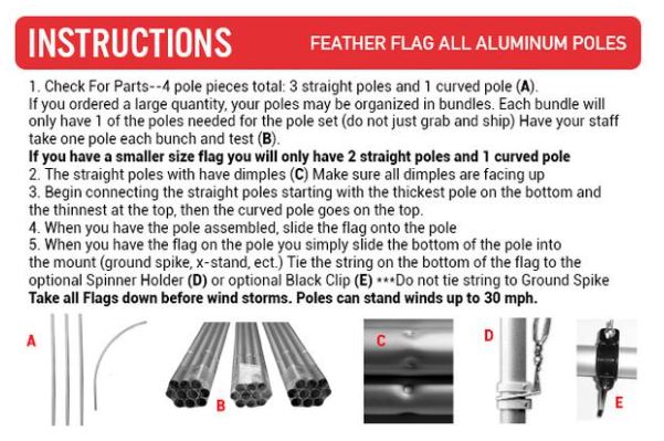 Auto Alignment Feather Flags