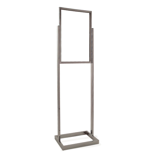 Floor Stand Stanchion Stand Sign Holder- Rectangular Tubing Base 14x22