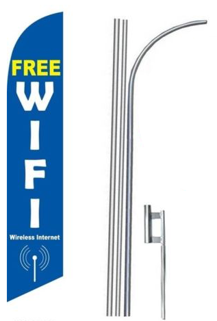 Free Wi Fi Feather Flag Kit