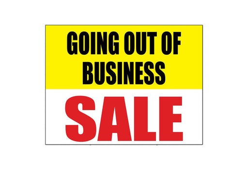 Going Out of Business Sale Shelf Sign Price Cards-50 pieces