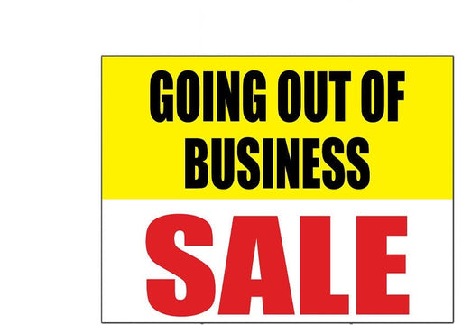 "Going Out of Business Sale Window Sign-Posters-22"" H x 28"" W"