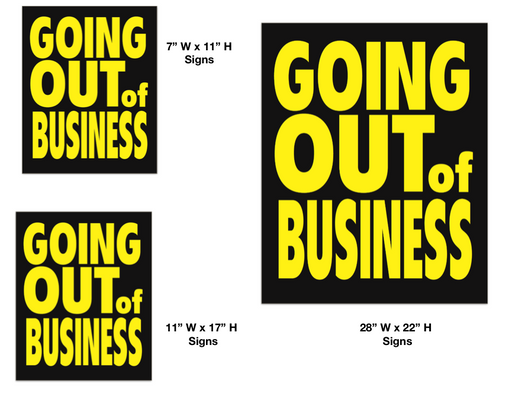 Going Out of Business Sign Kit