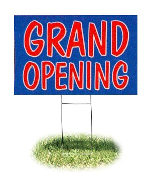 "Grand Opening Lawn-Yard Signs for Retail 24 ""x 18"""