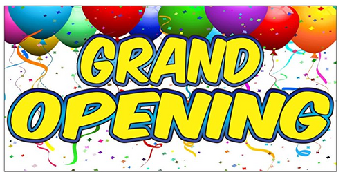 "Grand Opening Shelf Signs-Balloons 11""X 7"""