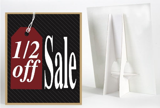 1/2 Off Sale Counter Top Easel Sign