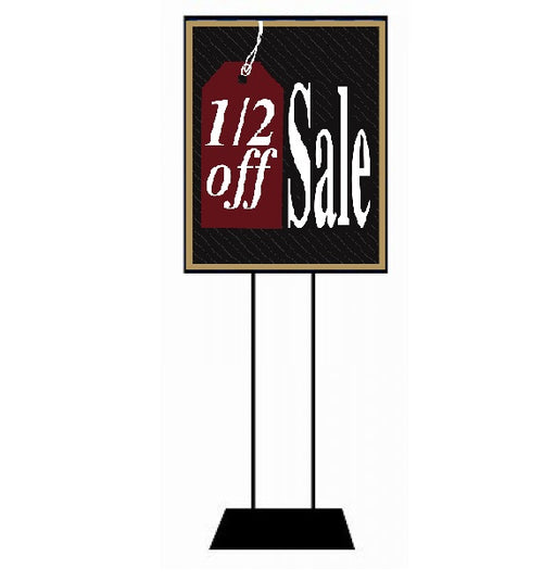 1/2 Off Sale Floor Stand Stanchion Sign