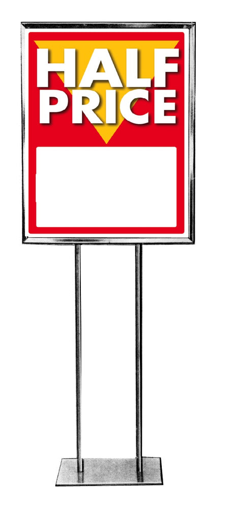 "Half Off Floor Stand Stanchion Signs-Poster 22"" x 28"""