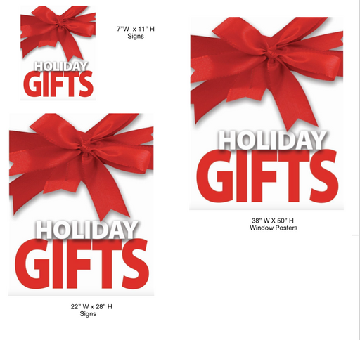 Holiday Gifts Sale Retail Sale Event Sign Kit