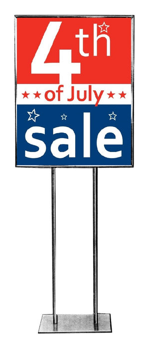 July 4th Sale Posters-Floor Stand-Stanchion Signs-RWB-4 pieces
