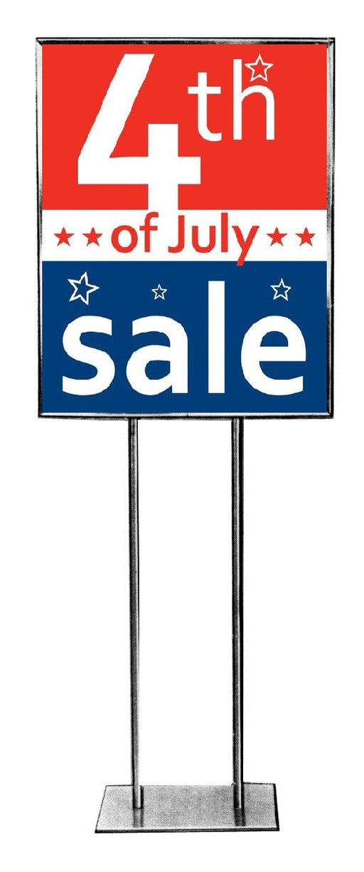 4th of July Sale Posters- Floor Stand-Stanchion Signs 22 W x 28 H