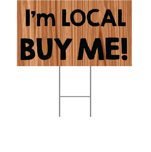 "Lawn Yard Signs for Supermarkets-Local 18"" x 24""- 2 pieces"