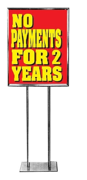 No Payments for 2 years Standard Posters-Floor Stand Signs-4 pieces