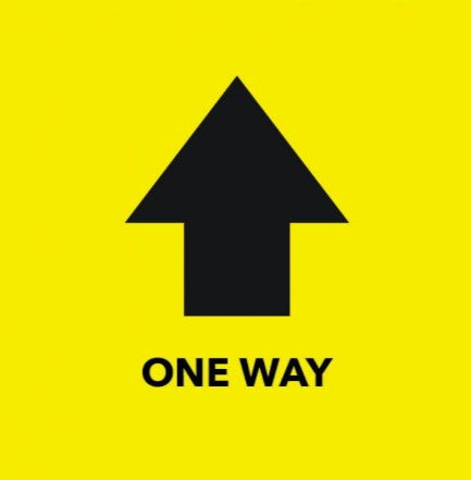 Social Distancing One Way Arrow Floor Graphics Decal
