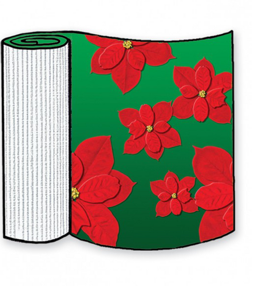 Poinsettias Corrugated Base Pallet Wrap-4 Rolls