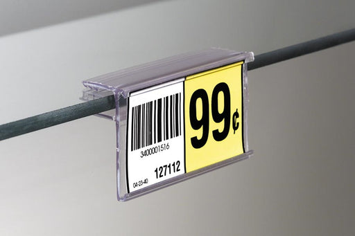 Price Tag-Price Label Holders for Glass Shelves-25 pieces