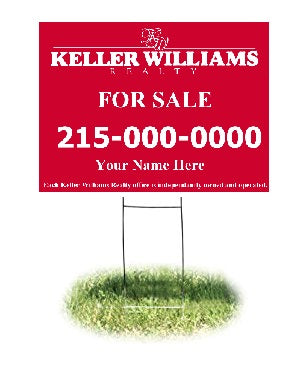 "Lawn-Yard-Bandit Signs-Keller Williams Real Estate- 24 ""x 18"""