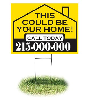 "Lawn-Yard-Bandit Signs-This House -Real Estate- 24 ""x 18"""