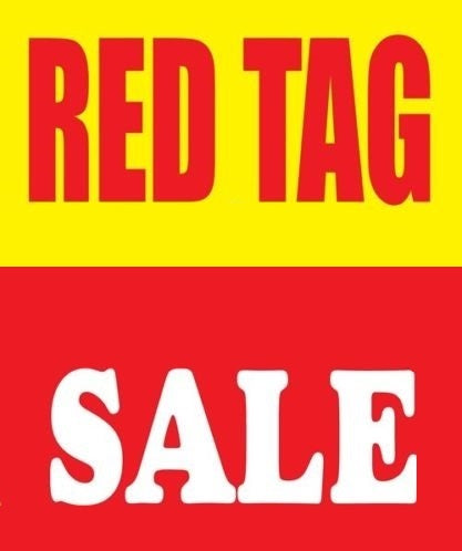 "Red Tag Sale Window Signs-R-36""W x 48""H"