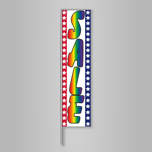 Sale Banner Flag Kit-Rainbow