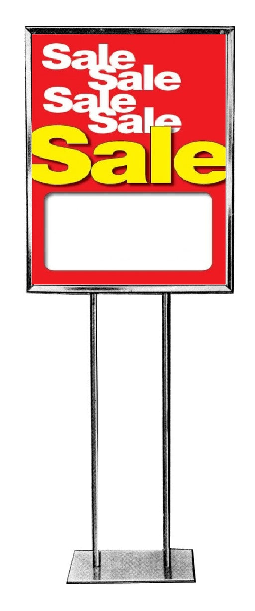 "Sale-Sale-Sale Price Floor Stand Sign- 22"" x 28"""