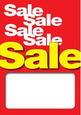 Sale-Sale-Sale Price Floor Stand Signs-4 pieces