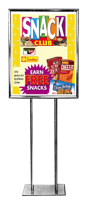 Snack Club Floor Stand Stanchion Sign