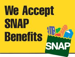 "We Accept SNAP Benefits Window Signs Poster-36"" W x 48"" H"