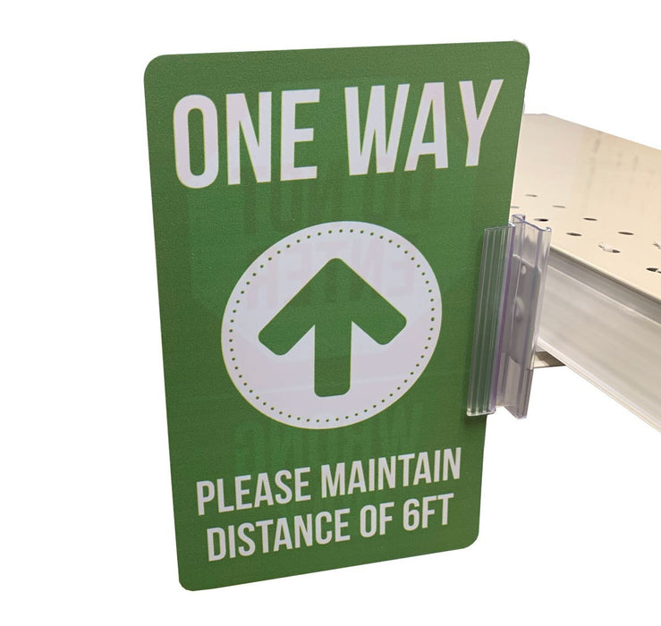 Social Distancing Signs for Retail with Sign Holders